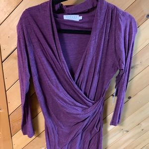 Soft purple draped dress